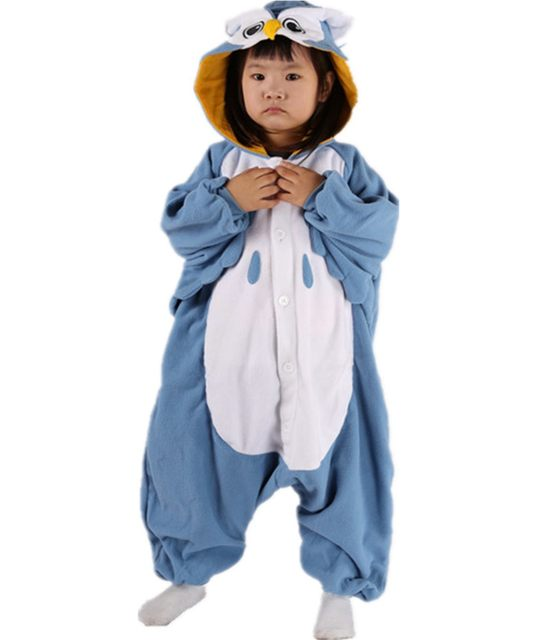 image  sc 1 st  Aliexpress & Online Shop Cute Kids Baby Boys Cosplay Blue Owl Costume Onesies ...