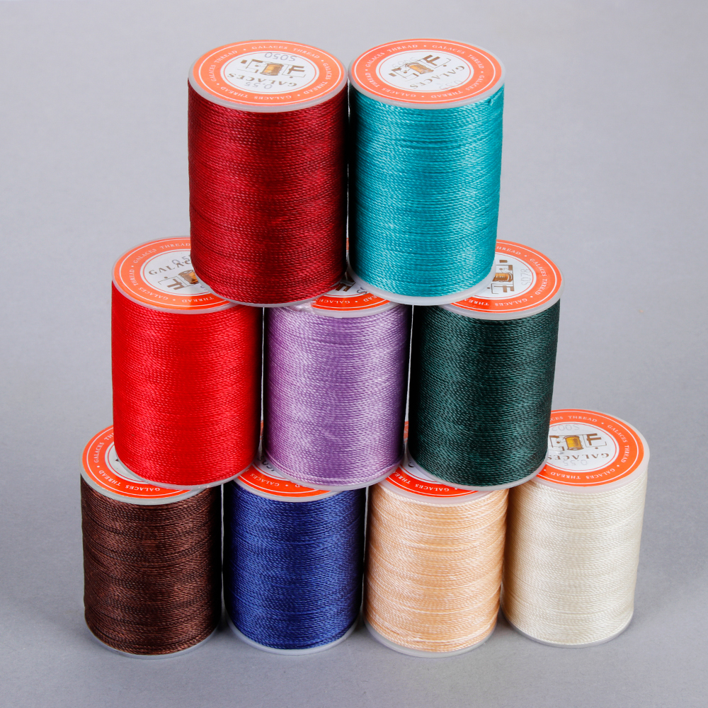 Polyester Thread For Sewing Machine 120Meters 0.55mm DIY Handicraft Leather Tool Thread For Sewing Cord Waxed Thread 21 Colors