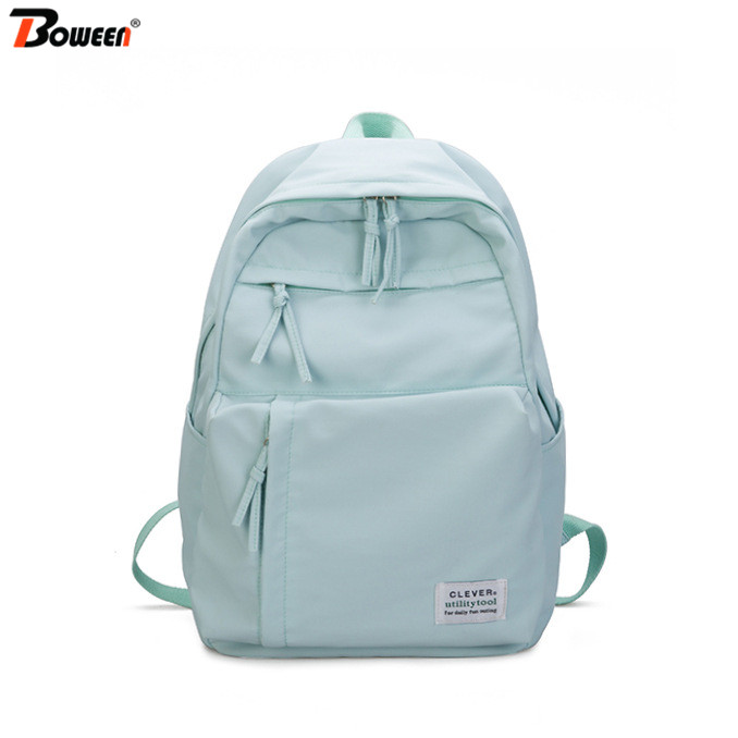 Teen School Bags For Girls Backpack Women Bag School Large Waterproof Nylon College Student Book Bag Big Blue Satchel Schoolbag