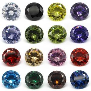 Image 1 - White CZ Stone 5000pcs/lot 1.0mm 1.5mm 2.0mm (0.8~3.0mm) Round Cut Peridot, Garnet, Purple Cubic Zirconia Stone For Jewelry