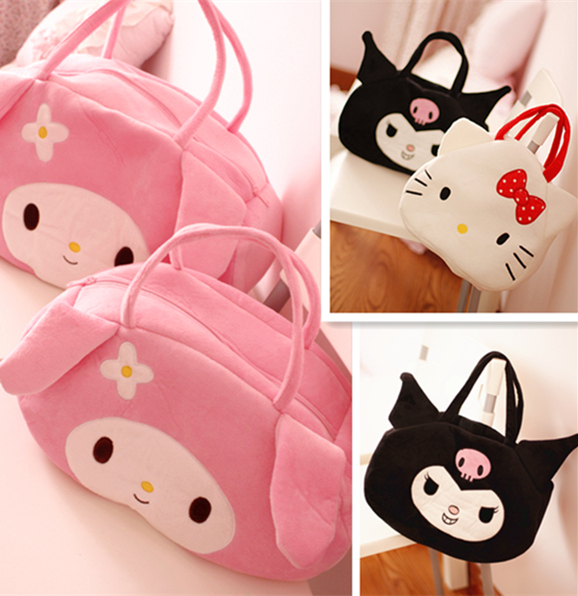candice guo! super cute plush toy cartoon Melody Devil kuromi shoulder bag handbag creative girls birthday Christmas gift 1pc candice guo super q cartoon chubby hamster squirrel plush toy doll backpack shoulder bag birthday gift 1pc