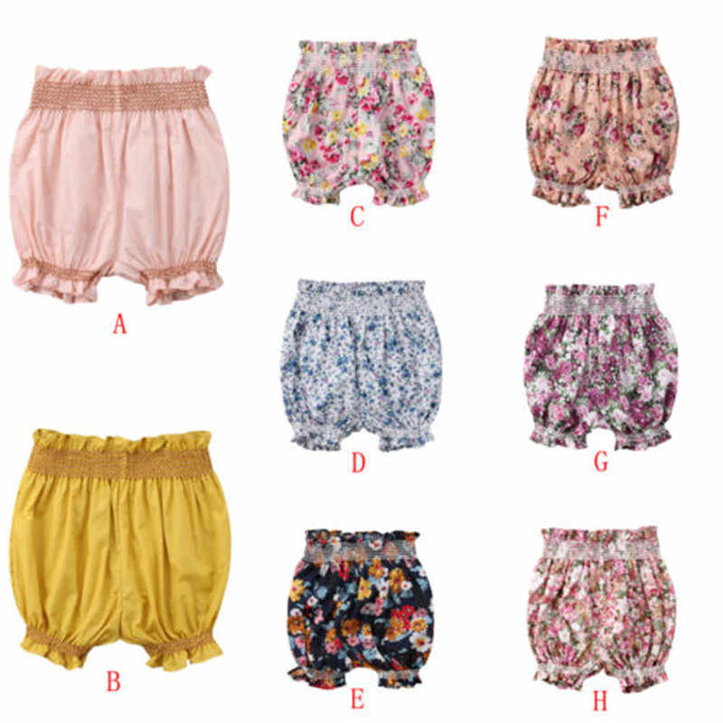Newborn Baby Girl Floral Harem Short Pants 2018 Summer Kids Girls Bottom Bloomers Clothes Hot Sale Infant Baby Girls Shorts 0-3Y
