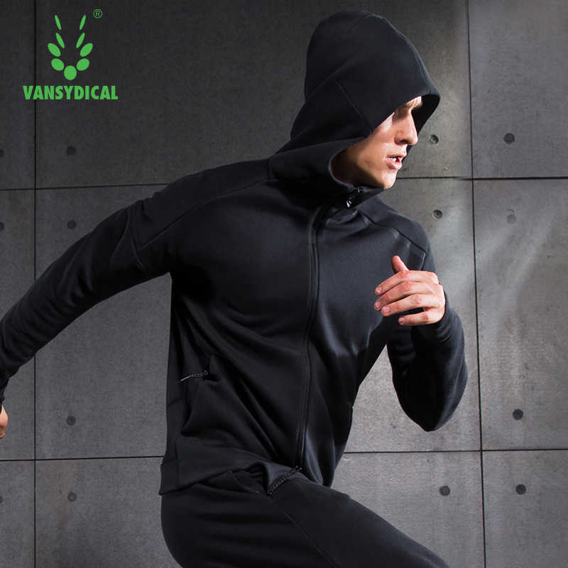 Vansydical الرجال الرياضية دعوى جاكت رياضي لتشغيل التدريب معطف رياضة الذكور سترة طويلة الأكمام سترة تدريب رجل التدريب