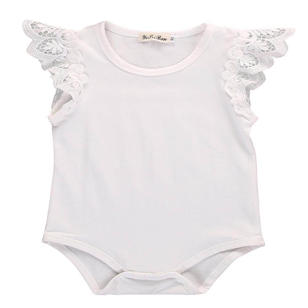 Lace Newborn Baby Girl Clothes Cotton Body Short Sleeve Princesses Jumpsuit Playsuit Toddler Romper Outfits