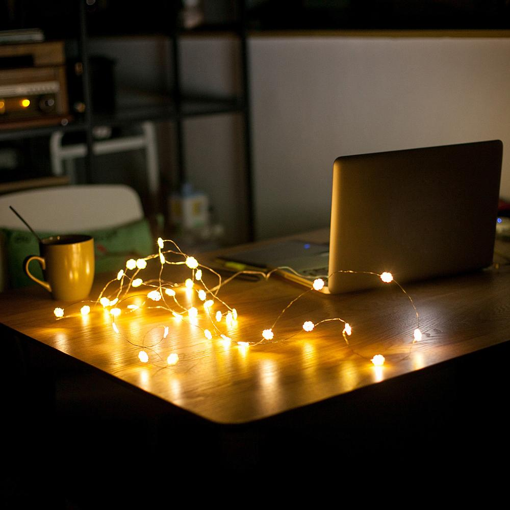 1M 2M 3M 5M 10M USB LED String Lights Christmas Tree Fairy Lamp For Home Holiday Wedding Party Decorative Lighting