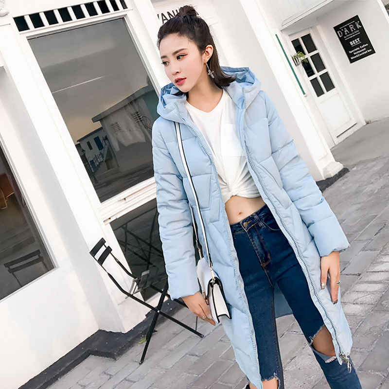 2017 New Fashion High Quality Winter Jacket Women Brand Ladies Thick Mid-Long Coat Thicken Warm Cotton-Padded Hooded Down Parkas 2015 new hot winter thicken warm woman down jacket coat parkas outwewear hooded loose brand luxury high end mid long plus size l