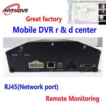 Hard disk SD card mobile DVR 4CH remote video monitoring host CMSV6 real-time video monitoring truck monitoring