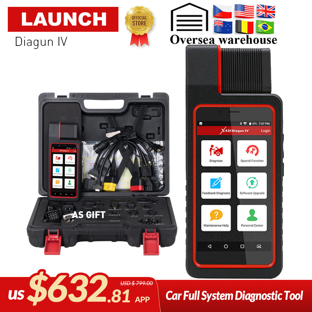 LANCEMENT X431 Diagun IV Auto Système Complet Outil De Diagnostic Soutien Bluetooth/Wifi avec 2 Année Mise À Jour Gratuite mieux que diagun iii