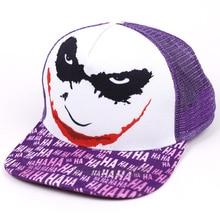 Бейсбольные кепки с принтом Бэтмена Джокера, летние кепки с защитой от солнца, регулируемые кепки в стиле хип-хоп для мужчин и женщин