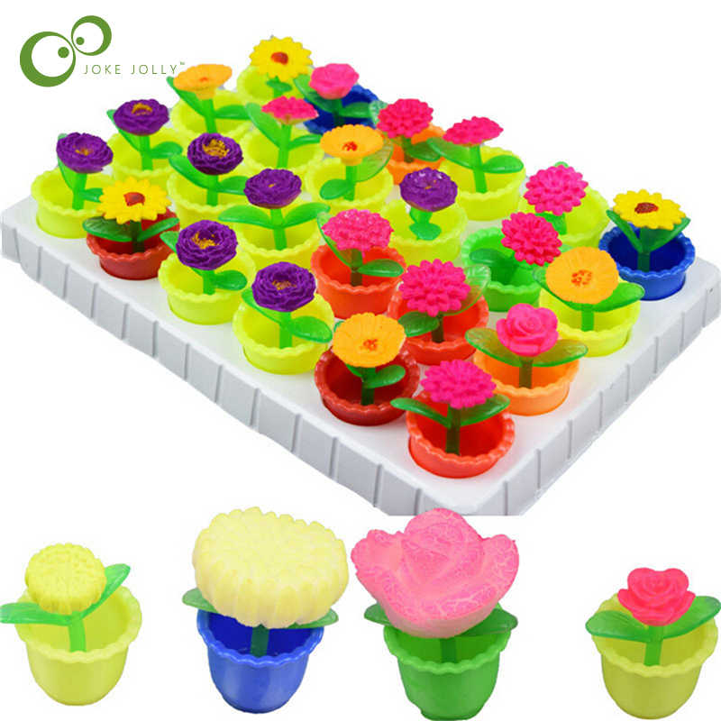 Growing In Water Bulk Swell Flower And Pot Various kinds Expansion Toy Creative Colorful Puzzle Magic Toys Decoration WYQ