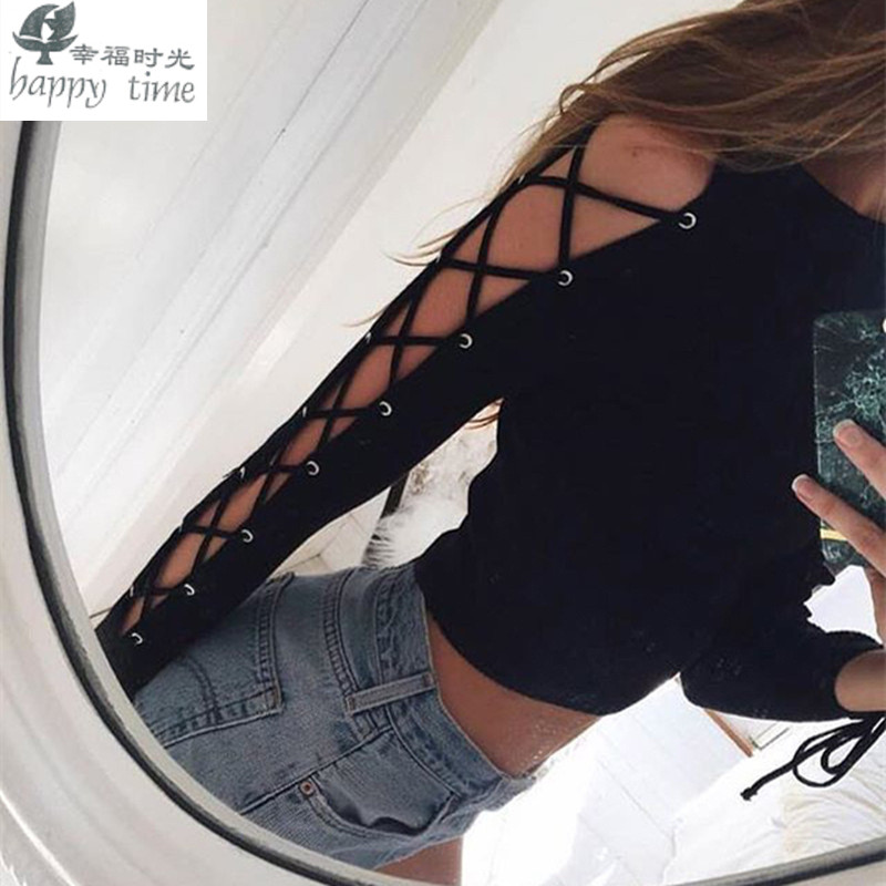 Happy Time T Shirts Women Ethnic Hollow Out T Shirt Summer Boho Faux Leather Suede Back
