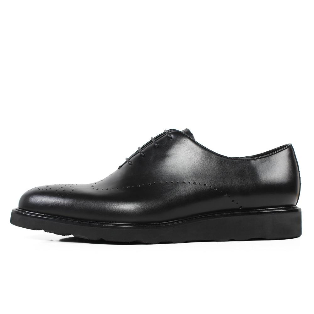 Kuh Leder Schwarz Echtes Brogue Männer Männlichen Hochzeit Zapatos Büro Kleid Schuhe Black Vikeduo Business Schuh Turnschuhe Formale 7xOPwd5q