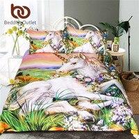 BeddingOutlet Bohemian Flower Bedding Set Gradient Purple Mandala Quilt Cover Set King Size Home Textiles Drop