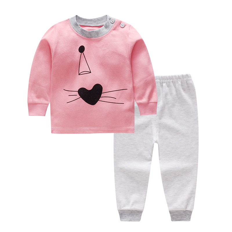 Baby Clothing Sets Spring Autumn Cartoon T-shirts+Pants 2PCS Baby Girls Outfits Set Newborn Boys Sports Clothes cotton baby rompers set newborn clothes baby clothing boys girls cartoon jumpsuits long sleeve overalls coveralls autumn winter