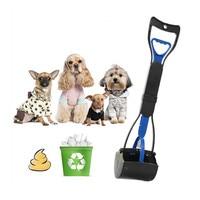 Складной кошка собака отходов Poo Scoop Палочки er длинной ручкой Pet Pooper scooper очиститель Палочки до кошка собака туалет корма собака poo сумка