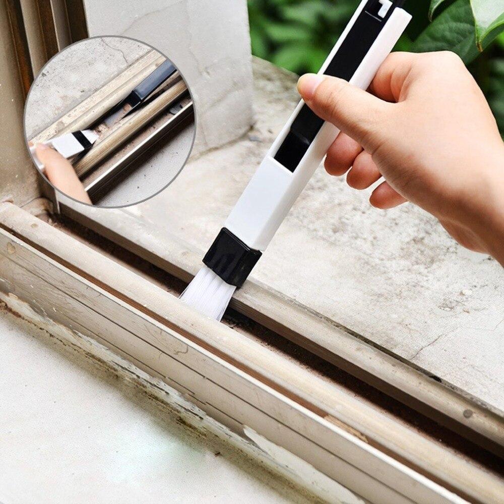 Herramienta de limpieza de ventana de ordenador multifunción cepillo de ventana ranura teclado Nook pala de polvo