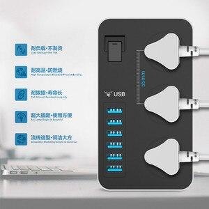 Image 3 - 16A Smart Power Socket Strip 6 porta USB 3 prese universali da 3000W AC presa a muro grande prolunga Patch Board per telefono casa