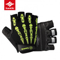 Santic Cycling Gloves Men Half Finger PRO Gel Pad Road Bike Gloves Outdoor Sports Cycle Bicycle Gloves Luvas Ciclismo