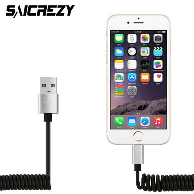 saicrezy flexible 8 pin to usb cable spring extension elastic rh aliexpress com iphone 4 usb cable wiring diagram iphone usb cable not connecting to computer