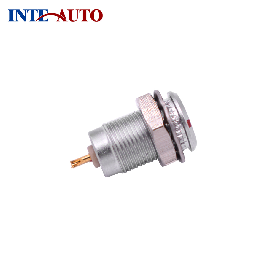 Lemo 4 pins Audio video Circular metal push pull connector, cable plug,wire socket, M7 cross 00B series FGG.00.304 EGG.00.304 replacement lemos connector circular metal push pull cable plug 3 pins m12 size brass body solder contacts fgg 1b 303