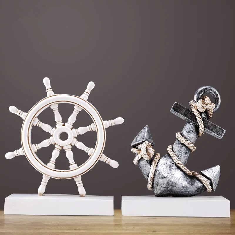 Creative Anchor Rudder Art Decoration Small Crafts Living Room TV Stand Office Furnishings Home Decorations