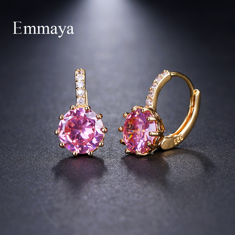 EMMAYA Stud Earrings Fashion Shimmery AAA CZ Earrings For Women Element Gifts Wholesale Chea Factory Price(China)