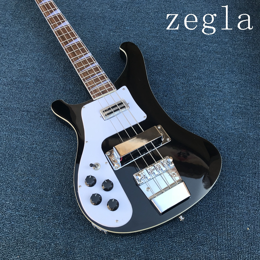 Wholesale 4003 Bass Model 4 String Electric Bass Guitar mahogany Body Left Handed In black free shipping