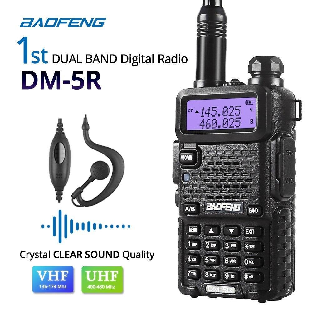 Original BAOFENG DM-5R talkie-walkie numérique DMR radio bidirectionnelle UV5R Version améliorée Vhf Uhf Mobile double bande Cb Radio