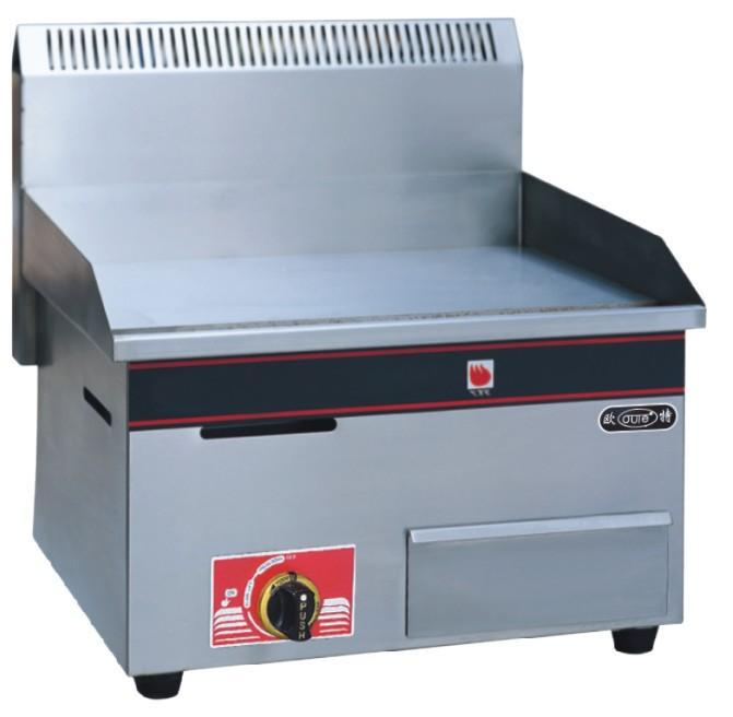 Gas flat frying panel griddle stainless steel food frying tool catering equipment LPG gas