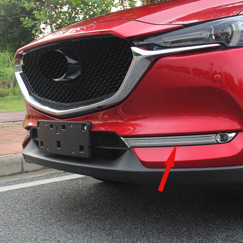 Free Shipping High Quality ABS Chrome Front Fog lamps cover Trim Fog lamp shade Trim For Mazda CX-5 CX5