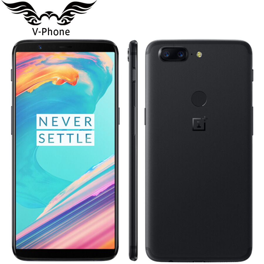 6.01 polegada 5 t 8 gb 128 gb 4g Oneplus Telefone Móvel Android Snapdragon 835 Núcleo octa 16MP 20MP dual Câmeras de Volta NFC Smartphones