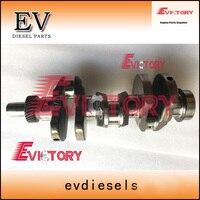 Eixo de manivela de aço forjado yanmar 3tnv76 para a reconstrução do motor de yanmar vio25