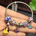 pure silver silver shining natural amber bracelets silver bracelets fine jewelry for women bracelet