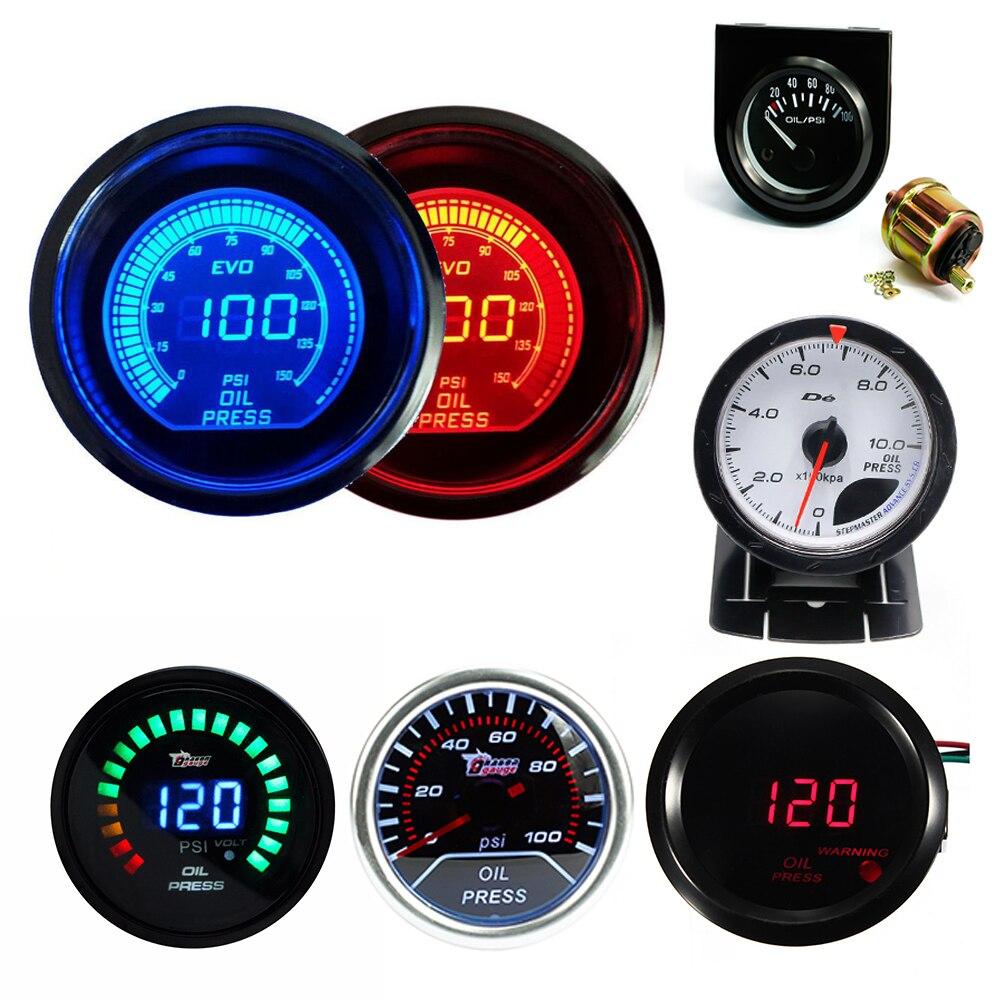 Led Auto Gauges : Mm car oil pressure gauge pointer digital display