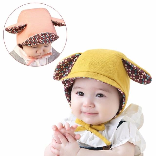 2ab74fcd86c 2018 Baby Rabbit Ears Hat Spring Autumn Baby Bonnet Hat Knitted Infant  Toddler Cap Girl Boy