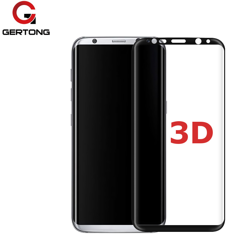 GerTong 3D Full Cover Screen Protector Tempered Glass For Samsung Galaxy S6 Edge S8 Note 8 Protective Glass For Samsung S 8 Film