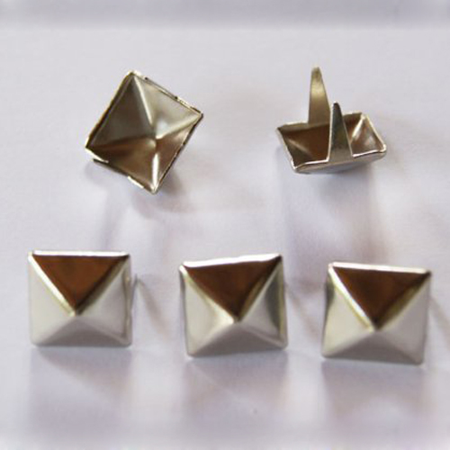SCYL 100 Pcs 12mm Silver Pyramid Studs Nailheads shoes accessories клепки для одежды three creations 1000 10 nailheads 80374