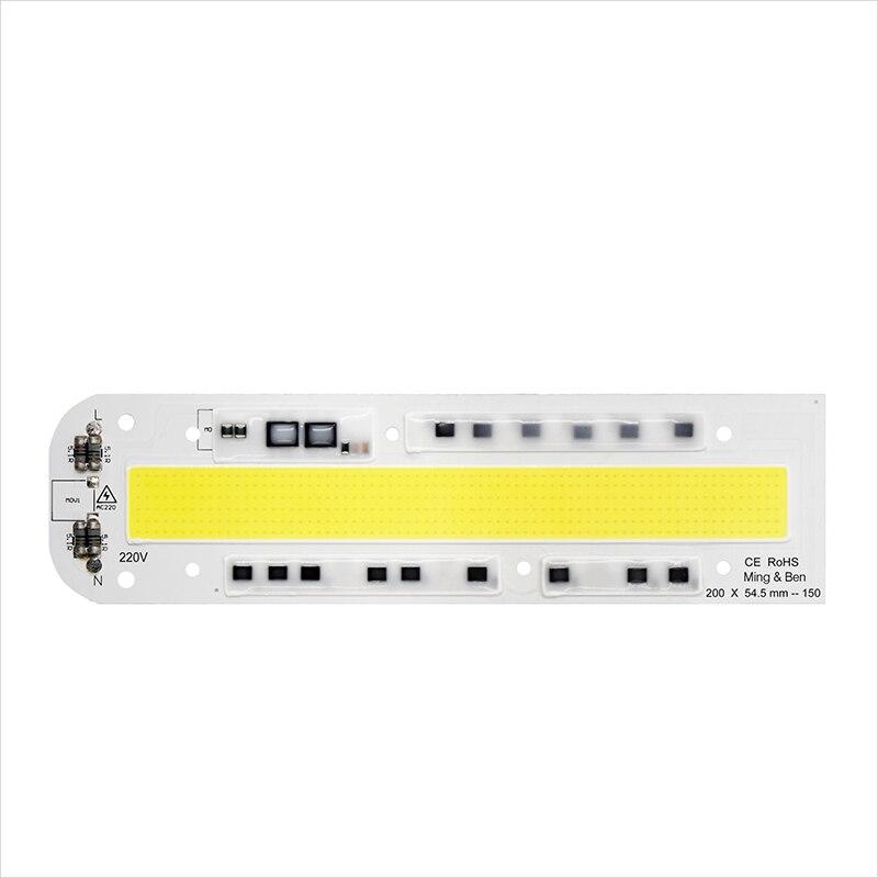 Smart IC LED COB Chip IP65 30W 50W 70W 100W 150W High Power Integrated Rectangle Beam AC220V 110V DIY For Floodlight Spot Light [mingben]led high power chip light beads 30w 50w 70w 100w 120w 150w 110v 220v input ip65 smart ic for diy led flood sport light