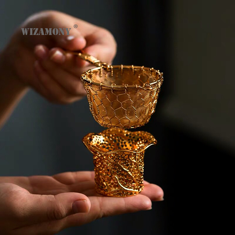 Copper Gong Fu Tea Strainer Set