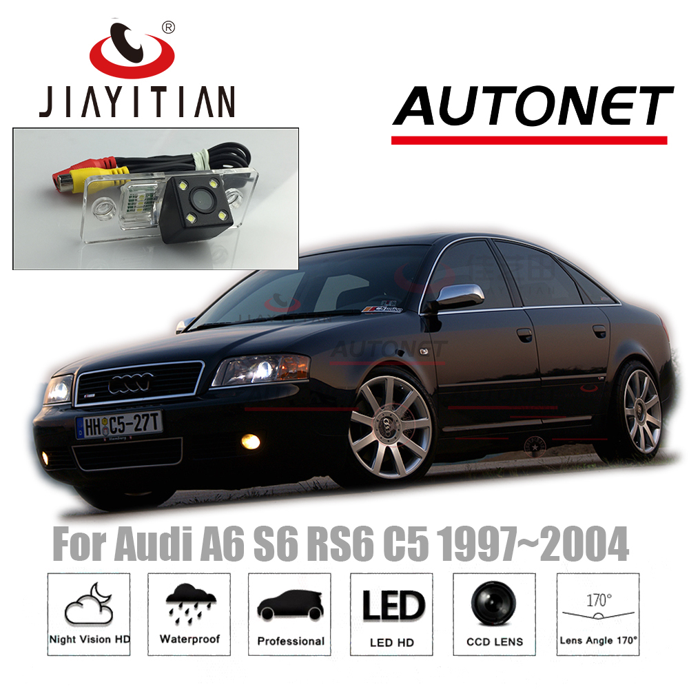 JiaYiTian Rear View <font><b>Camera</b></font> For <font><b>Audi</b></font> <font><b>A6</b></font> S6 RS6 C5 MK5 1997~2004 CCD 4LEDS Night Vision Reverse <font><b>Camera</b></font>/Backup <font><b>Camera</b></font> image