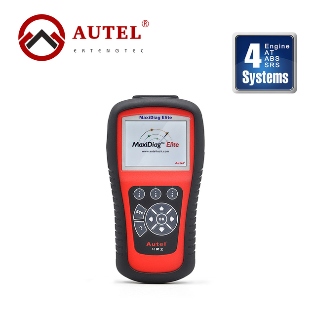 Autel Maxidiag Elite Diagnose OBD II MD701 Scanner 4 System Engine Transmission ABS Airbag Auto Code Reader