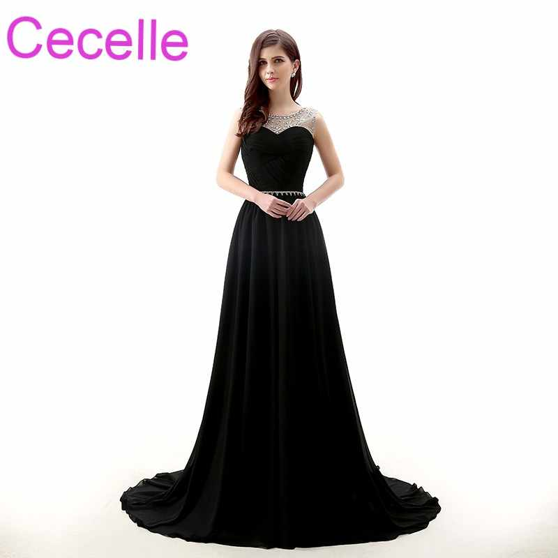 f812eb4aaabab Detail Feedback Questions about Black A line Long Evening Dresses ...