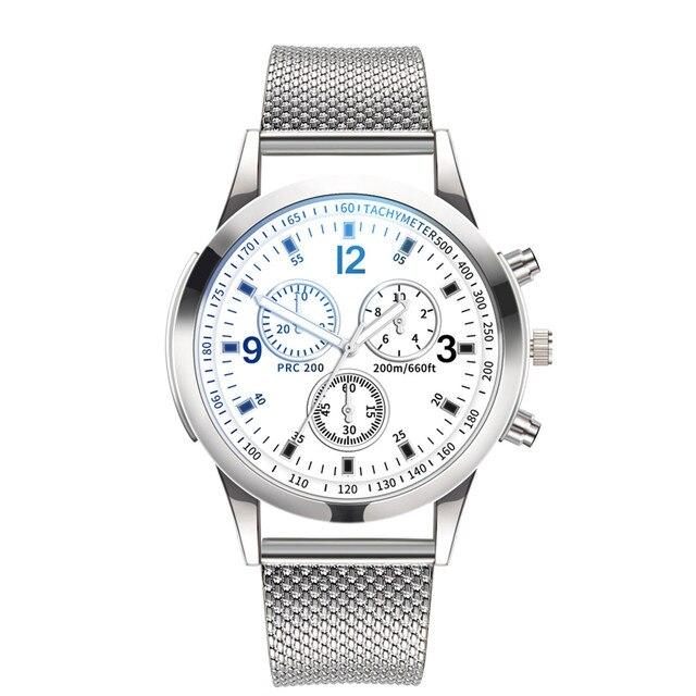 Luxury Men Bracelet Watches Quartz Stainless Steel Dial Casual Wrist Watch Alloy