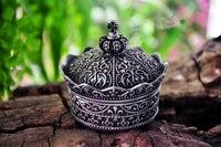Mini. ретро классический сплав олова металла Иса Императорская корона-образный принцесса ювелирных изделий на память сувенир коробка случай ...