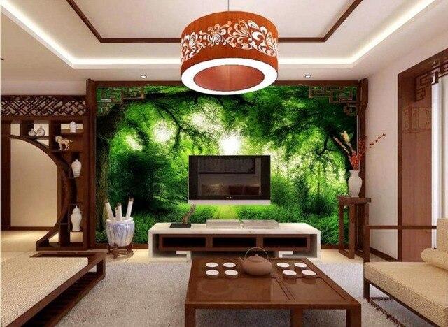 D stereoscopische behang landschapsschilderkunst custom hd muur