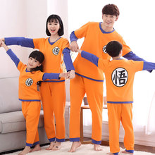 2019 dragon ball família pijamas conjunto roupa de natal pijamas mãe e me roupas mãe filha sun wukong família roupas