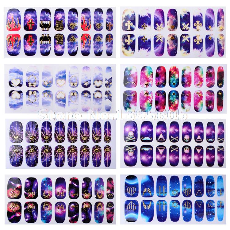 1600 Decals New Design 3D Galaxy Nail Fashion Art Stickers Crown Lip ...