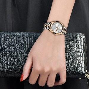 Image 4 - LIGE montre à Quartz pour femme, style or blanc, nouvelle collection 2019, de marque de luxe, horloge avec boîte, collection décontracté