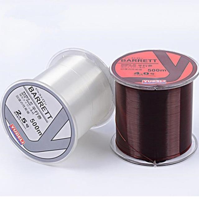 500M Nylon Fishing Line 40LB Japanese Durable Monofilament Rock Sea Fishing Line Thread Bulk Spool All Size 0.6 To 8.0