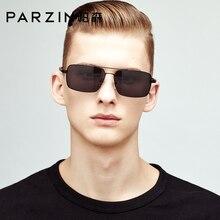 PARZIN 2019 Men Sunglasses Polarized For Driving Square Alloy Frame Real UV400 Lenses Sun Glasses